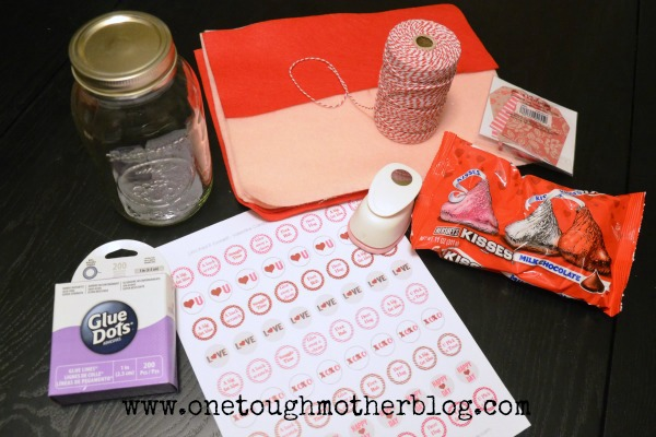 Steal A Kiss Jar Valentine Craft Tutorial Sweet Tea Saving Grace