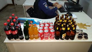 Guarda Municipal de Vitória (ES) detém indivíduo que invadiu churrascaria durante a madrugada.