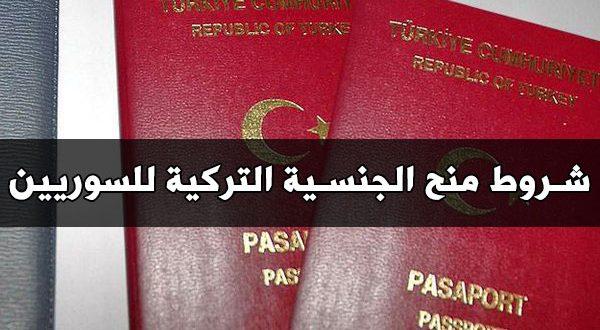 شروط التقديم على الجنسية التركية
