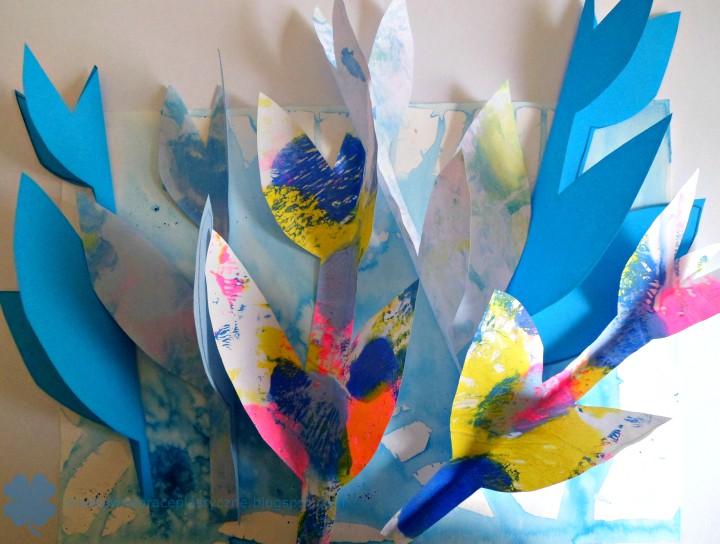 wycinanka tulipany 3D