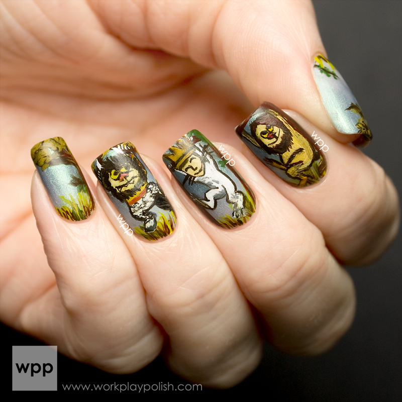 Where the Wild Thing Are Nail Art