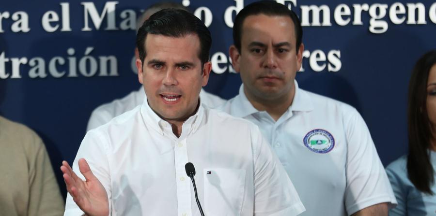 Rosselló pide a Trump que declare a Puerto Rico zona de desastre