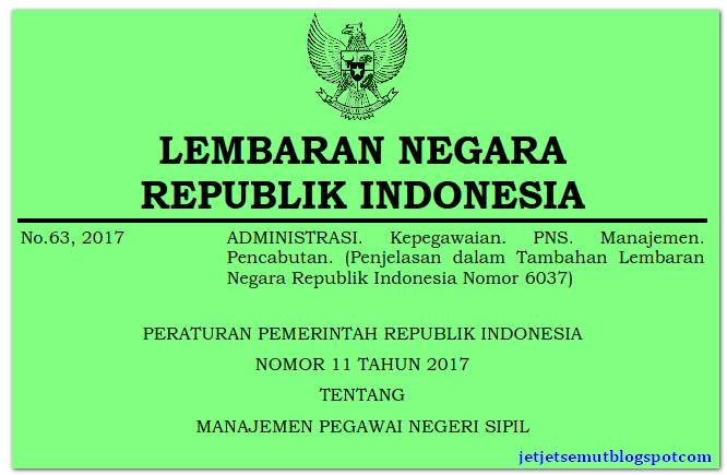 PP Nomor 11 Tahun 2017: Peraturan Pemerintah tentang ...