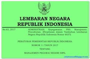 PP Nomor 11 Tahun 2017: Peraturan Pemerintah tentang Manajemen PNS
