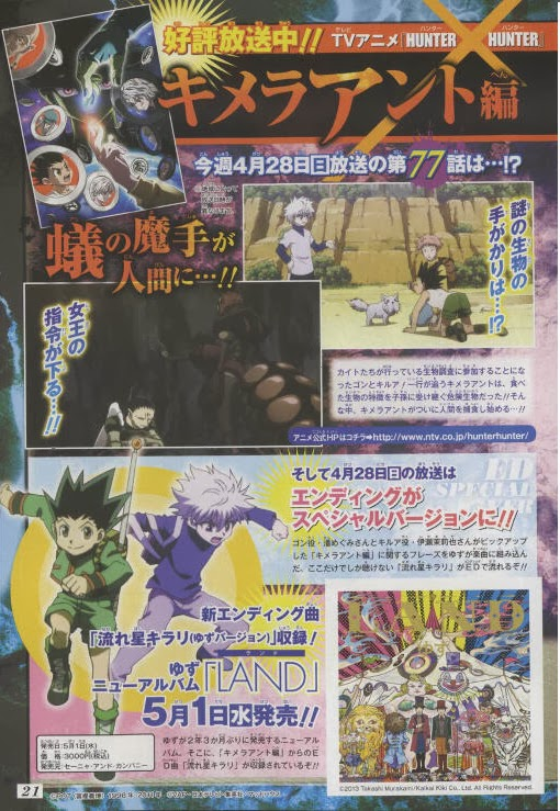 Hunter x Hunter Fansite: Character Visual Preview of