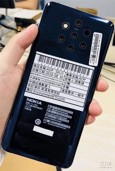 Nokia 9 dengan 5 Kamera