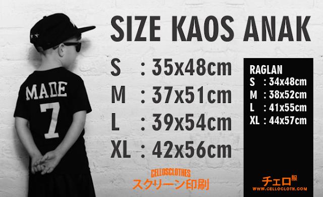 Size Kaos Anak