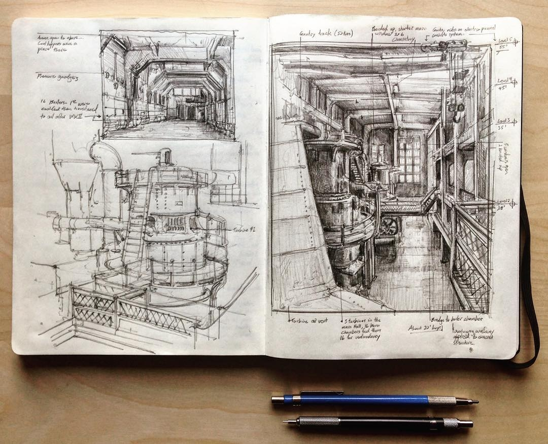 02-Georgetown-Steam-Plant-Jerome-Tryon-Observations-and-Ideas-in-Moleskine-Drawings-www-designstack-co