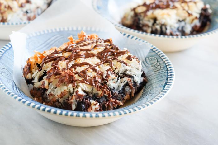 Macaroon Brownies | bakeat350.net