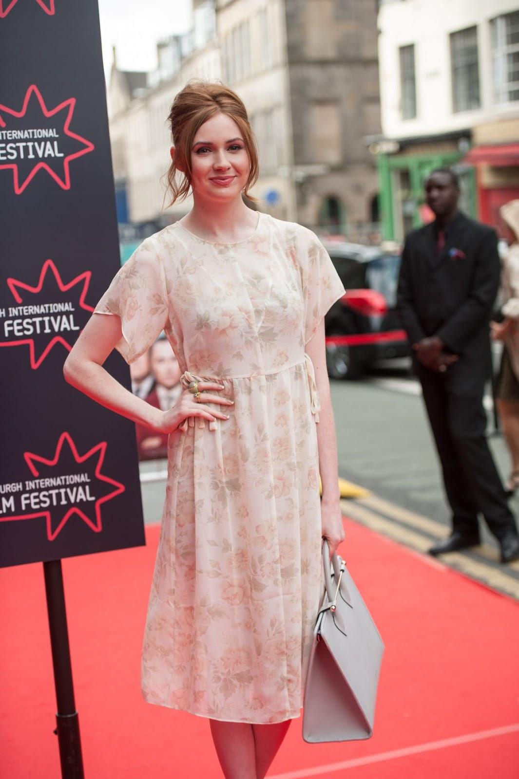 HD Photos of Jumanji actress Karen Gillan Attends Edinburgh Film Festival