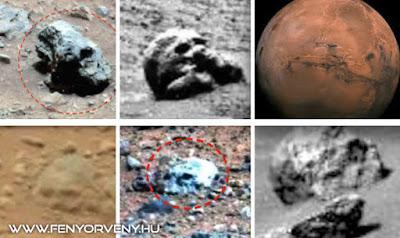 Humanoid szerű idegen koponyák a Marson