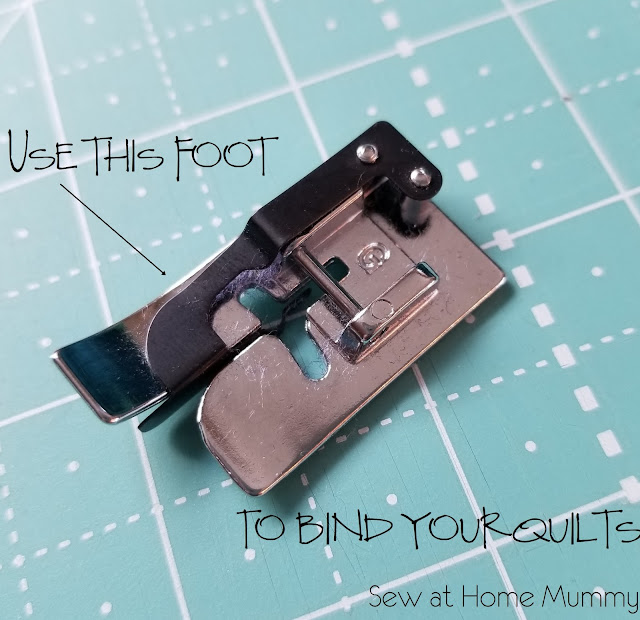 Use this foot to quickly and easily (and neatly!) bind your quilts!
