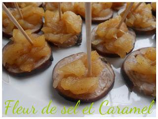 Bouchées apéritives : andouille et pommes