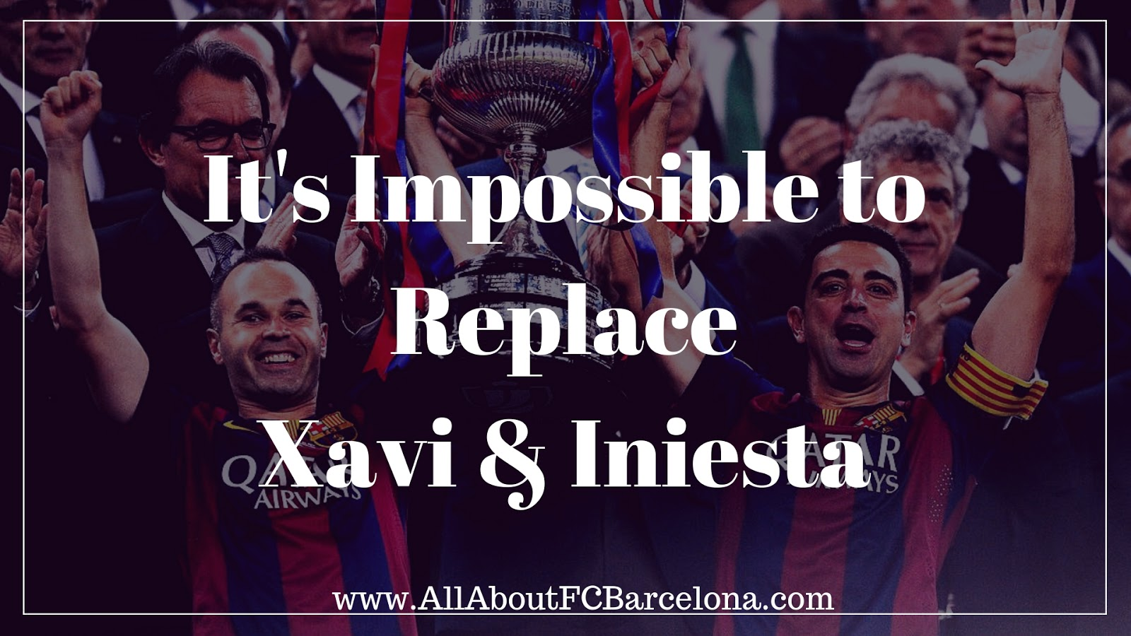 Barcelona won't be able to Replace Iniesta and Xavi #barca #Xavi #iniesta #fcbarcelona