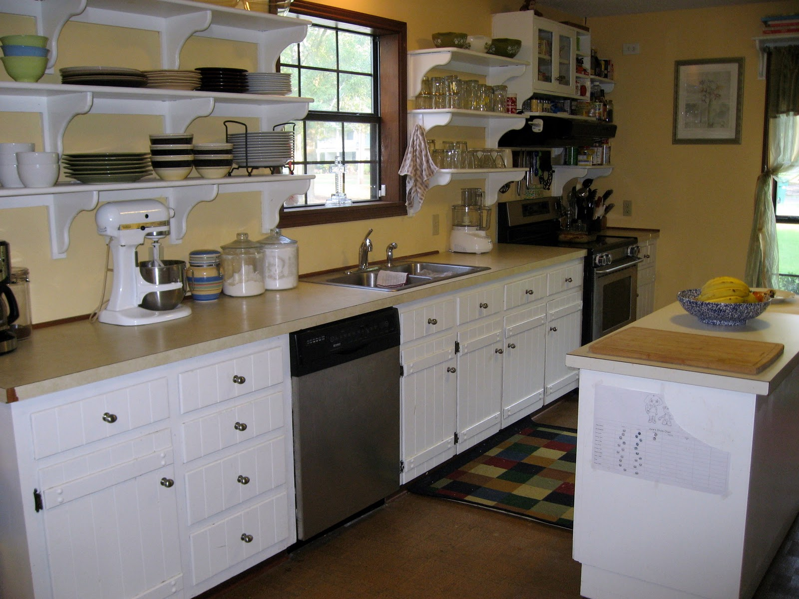 Open Kitchen Lower Cabinets My Kitchen The Virtuous Wife
