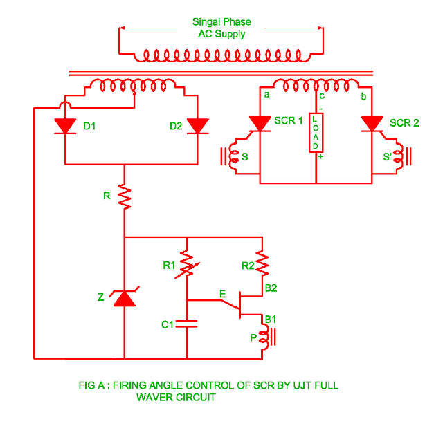 firing-of-scr-by-ujt-full-wave-circuit
