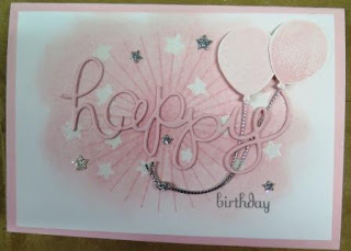 Emboss resist technique Pink pirouette zena kennedy independent stampin up demonstrator