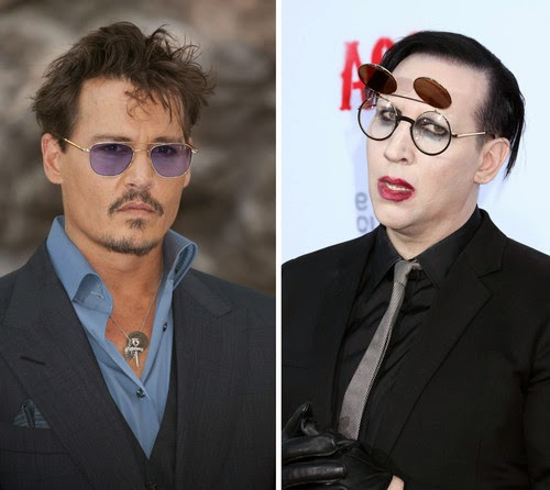 Here rock Johnny Depp and Marilyn Manson Halloween concert