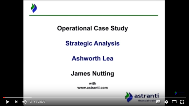 Strategic analysis video - OCS - May 2017 -  Ashworth Lea - Operational case study