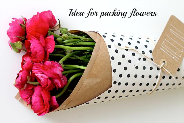 diy pakowanie kwiatów