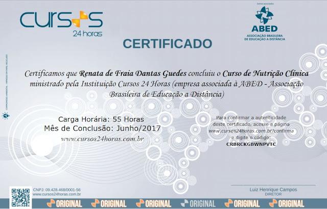 Renata Fraia - especialização em nutrição clínica