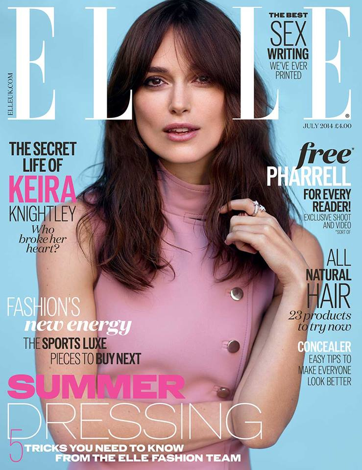 Keira Knightley covers Elle UK July 2014