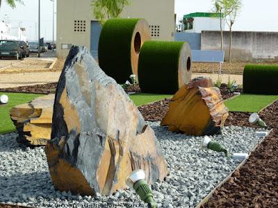 Monolitos de pizarra, jardines con piedras, piedra decorativa jardines, stones
