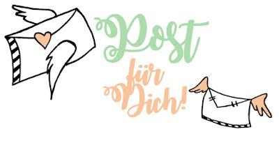 Zeichnung mit dem Spruch - Post für Dich