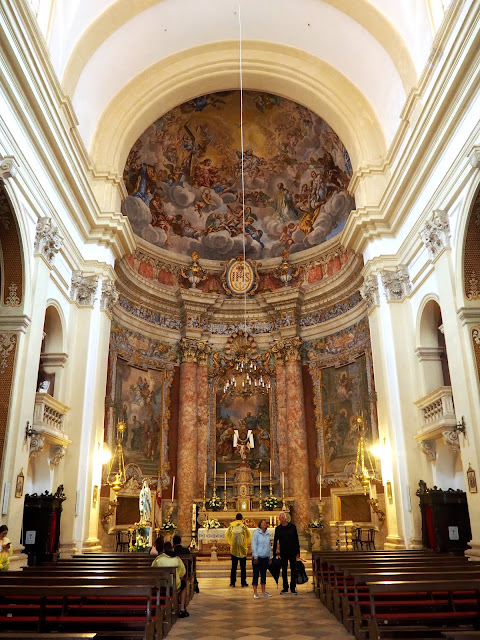 Interior of St Ignatius Church, Dubrovnik, Croatia