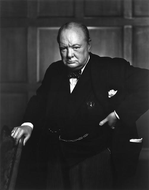 Winston Churchill fotografato da Yousuf Karsh