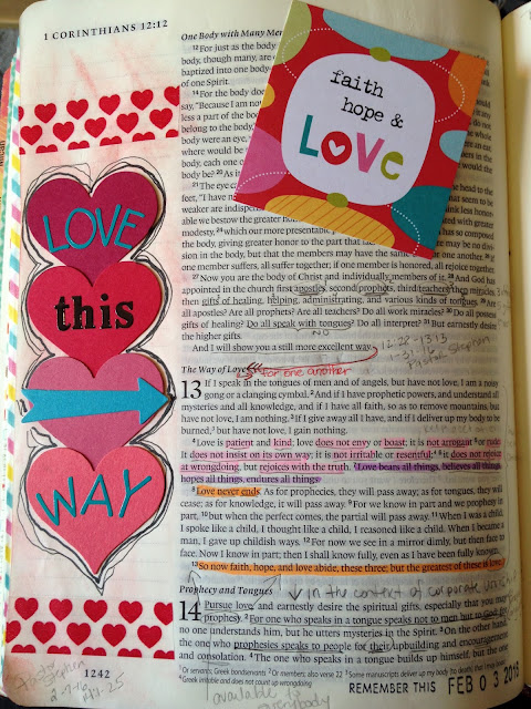 Bible Art Journal Entry - Love This Way