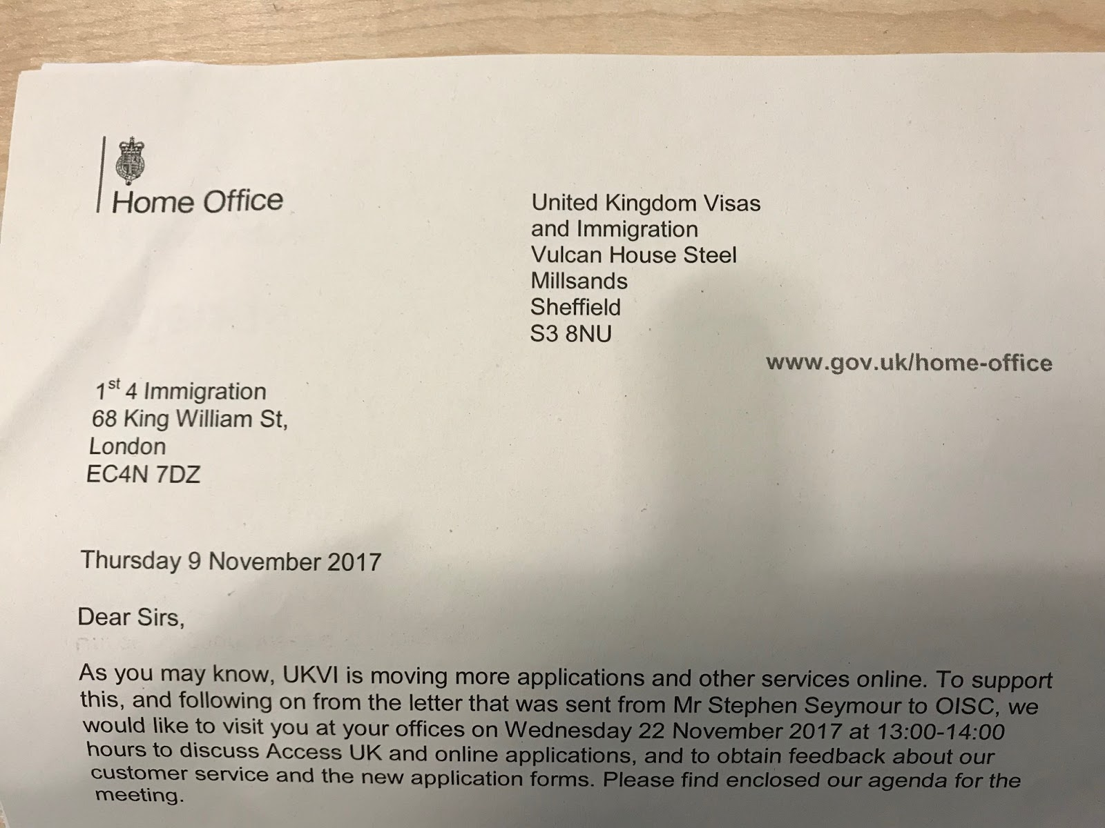 As Can Be Seen On The Home Office Letter (pictured), We Were Selected As  One Of Only Approximately 50 Firms In The Whole Country, Following The  Request Of ...