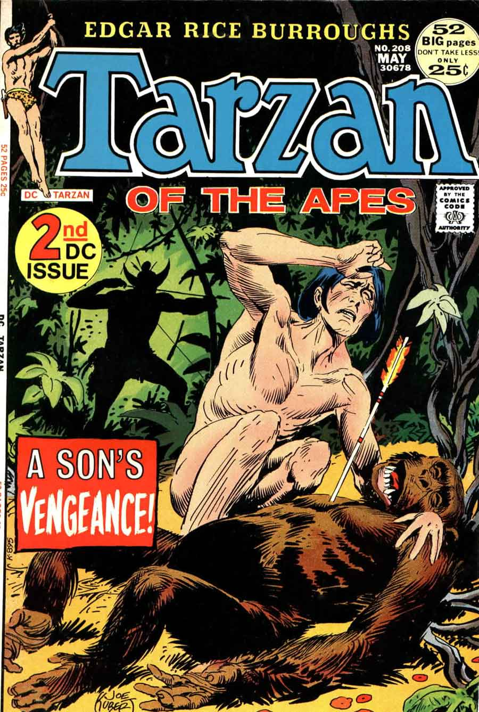 Tarzan v1 #208 dc comic book cover art by Joe Kubert