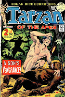 Tarzan v1 #208 dc comic book cover art by Joe Kubert
