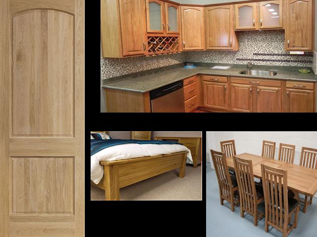 Đồ gỗ sản xuất từ gỗ ghép Sồi