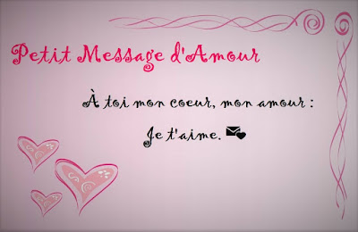Message d'amour court