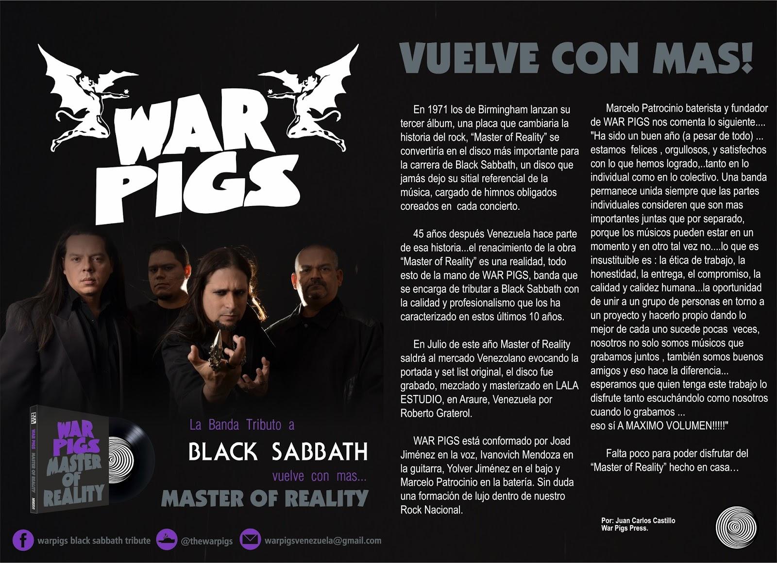 War Pigs vuelve con Más