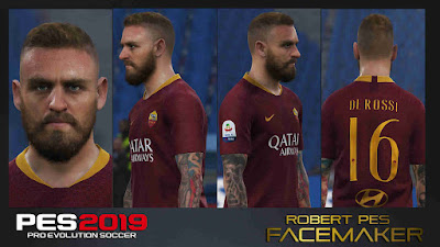 PES 2019 Faces Daniele de Rossi by RobertPes Facemaker