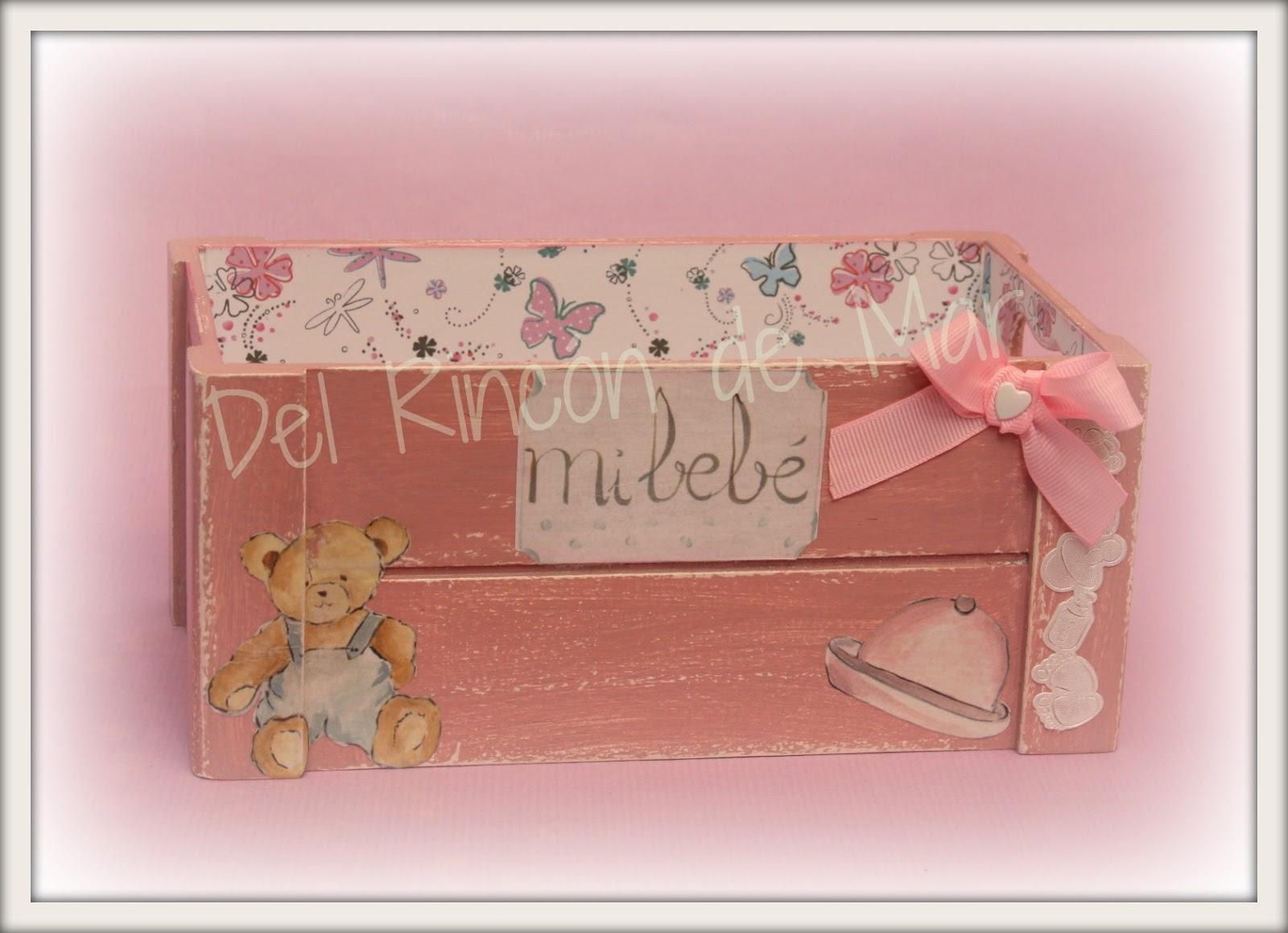 Del rinc n de mar cajas de madera decoradas - Cajas de madera manualidades ...