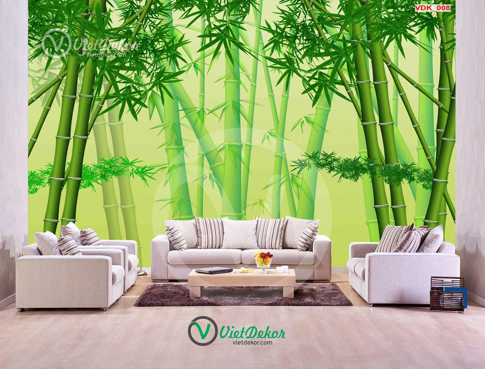 Tranh 3d phong cảnh rừng trúc