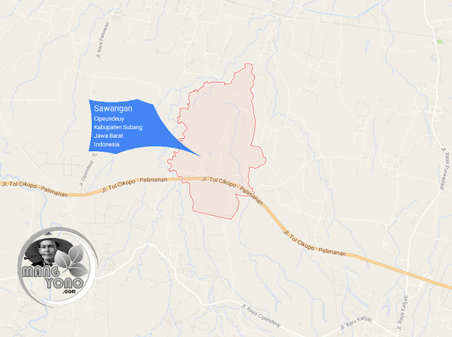 PETA Desa Sawangan, Kecamatan Cipeundeuy
