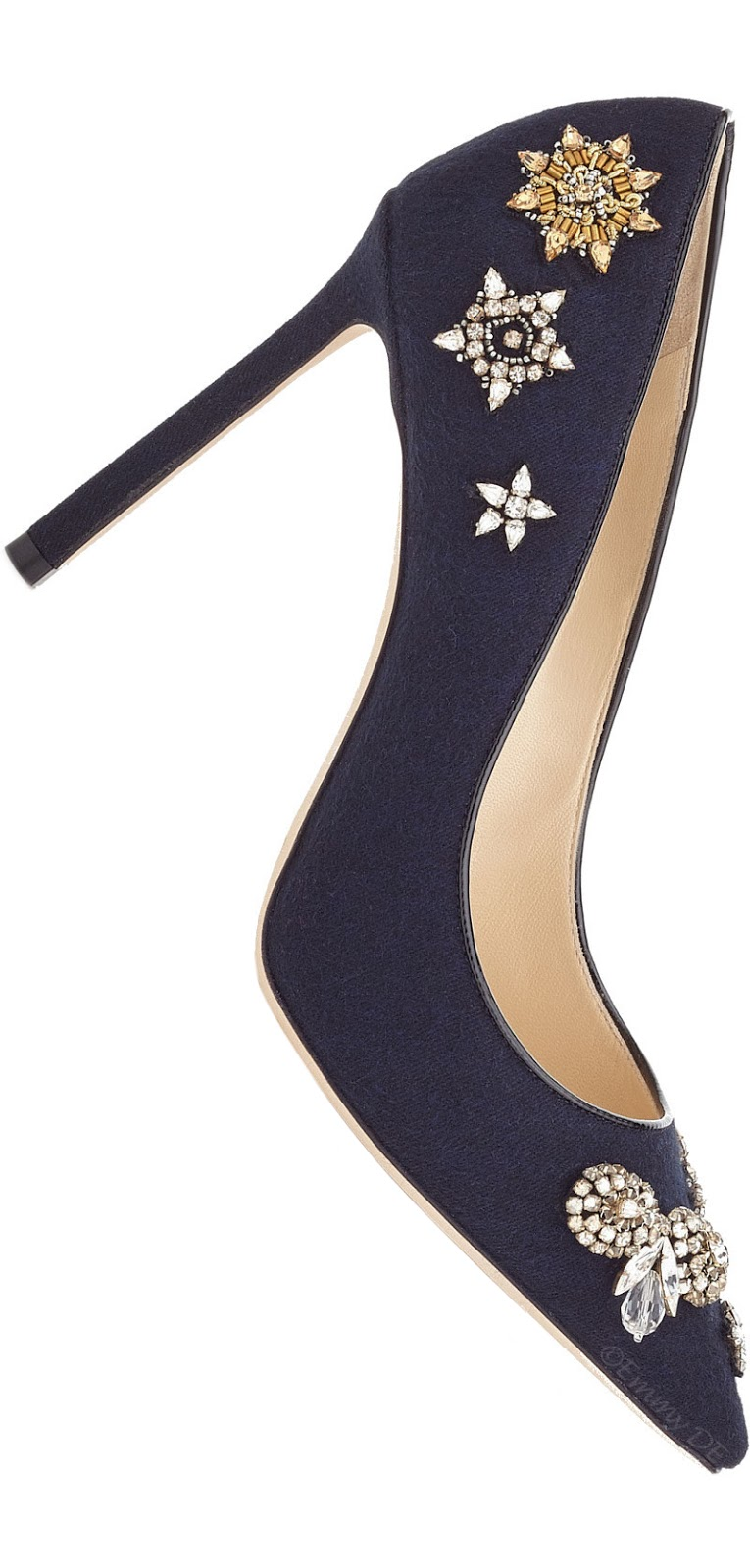 Brilliant Luxury ♦ Jimmy Choo Romy Blue Strass Pump