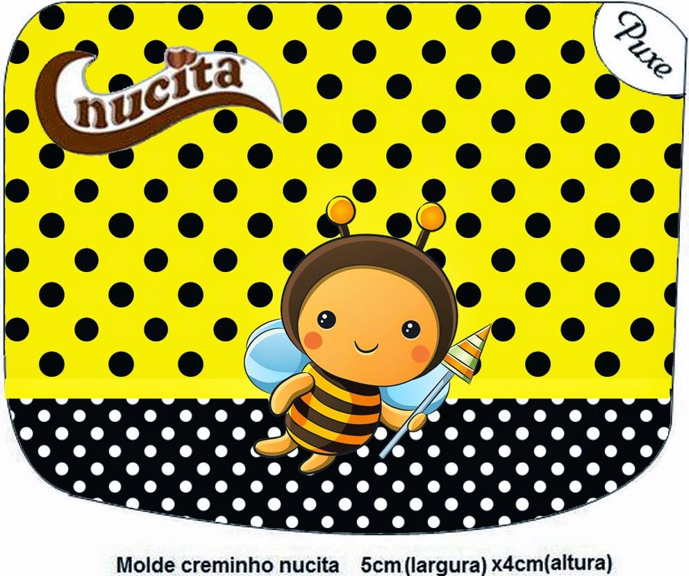 Etiqueta Nucita para Imprimir Gratis de Abejitas Bebé