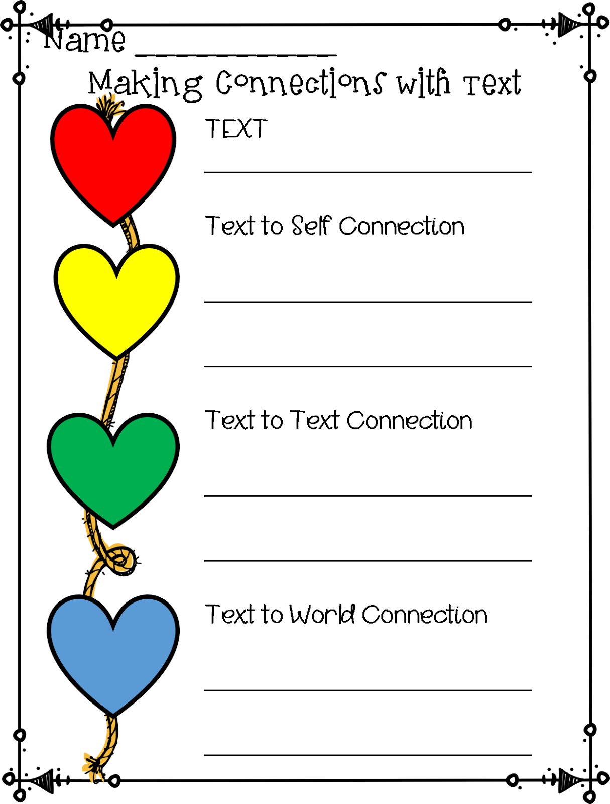 First grade wow text connections with heart if you would like a printable of these posters recording sheets and bookmarks buycottarizona