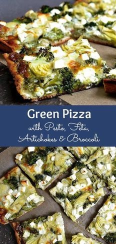 GREEN PIZZA WITH PESTO, FETA, ARTICHOKES, AND BROCCOLI   #masonjar #healthy #recipes #greatist #vegetarian #breakfast #brunch  #legumes #chicken #casseroles #tortilla #homemade #popularrcipes #poultry #delicious #pastafoodrecipes  #Easy #Spices #ChopSuey #Soup #Classic #gingerbread #ginger #cake #classic #baking #dessert #recipes #christmas #dessertrecipes #Vegetarian #Food #Fish #Dessert #Lunch #Dinner #SnackRecipes #BeefRecipes #DrinkRecipes #CookbookRecipesEasy #HealthyRecipes #AllRecipes #ChickenRecipes #CookiesRecipes #ріzzа #pizzarecipe #vеgеtаrіаn #vegetarianrecipes #vеggіеѕ #vеgеtаblеѕ #grееnріzzа #vеggіеріzzа #feta #pesto #artichokes #brоссоlіSаvе