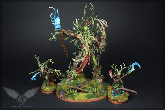 warhammer age of sigmar sylvaneth branchwraith, branchwych and treelord ancient