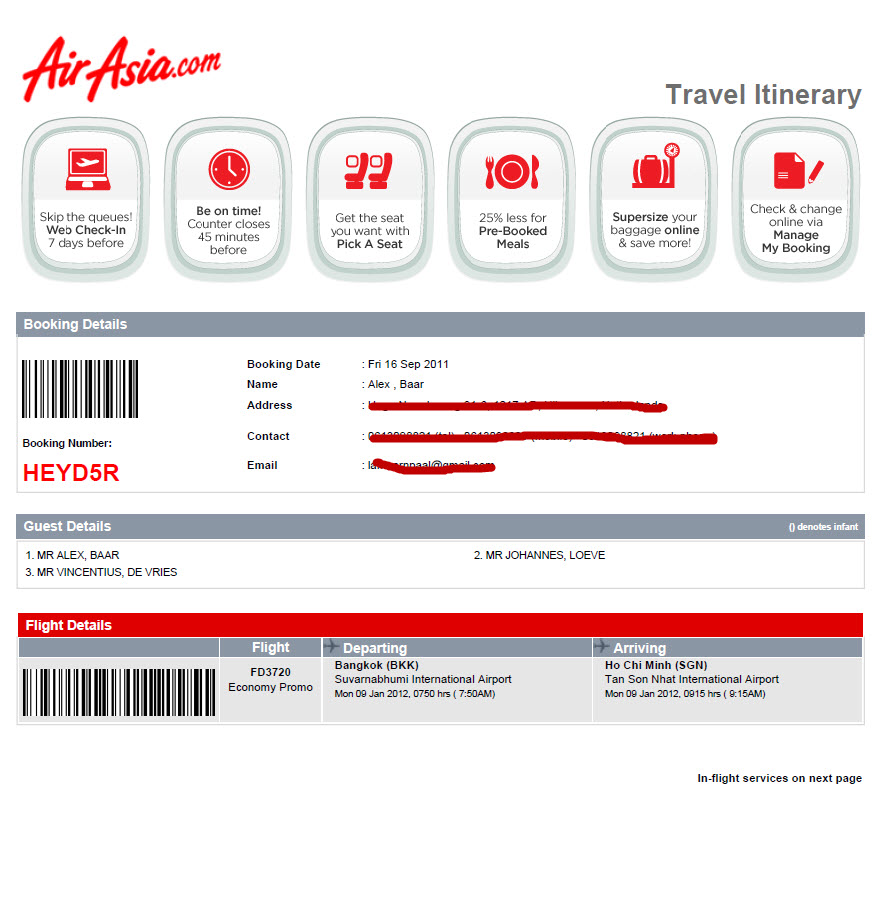 airasia at the ticket