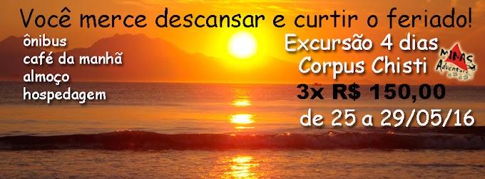 Cabo Frio 4 dias R$ 390,00