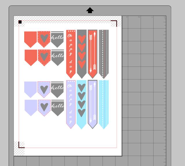 silhouette cameo, make stickers, stickers silhouette cameo tutorial