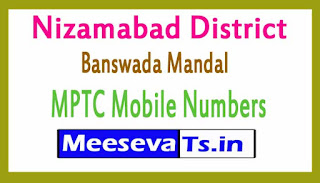 Banswada Mandal MPTC Mobile Numbers List Nizamabad District in Telangana State